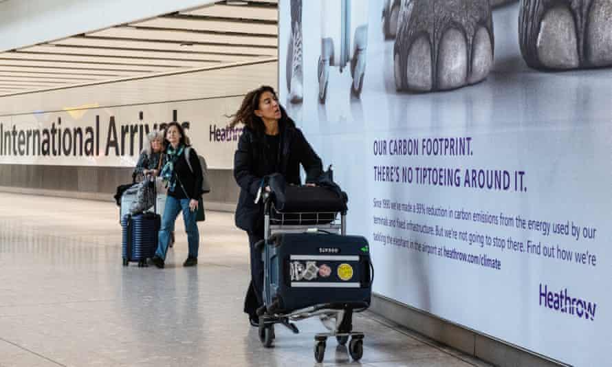 Passengers at Heathrow terminal five
