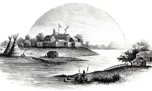 A 19th-century illustration showing Chicago in 1831.