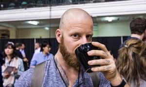 A coffee drinker