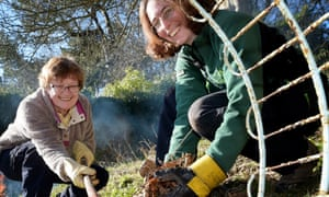 The Branching Out programme in Scotland uses the outdoors to help people build up their confidence.