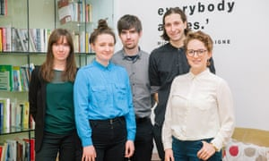 The Bureau Local team (from left): Maeve McClenaghan, Kirsty Styles, Gareth Davies, Charles Boutaud and Megan Lucero