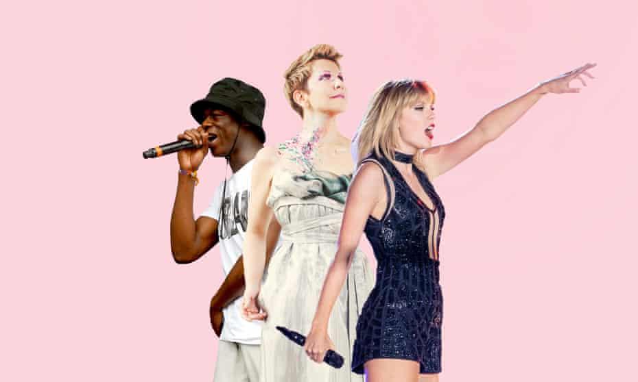 J Hus, Joyce DiDonato, and Taylor Swift.