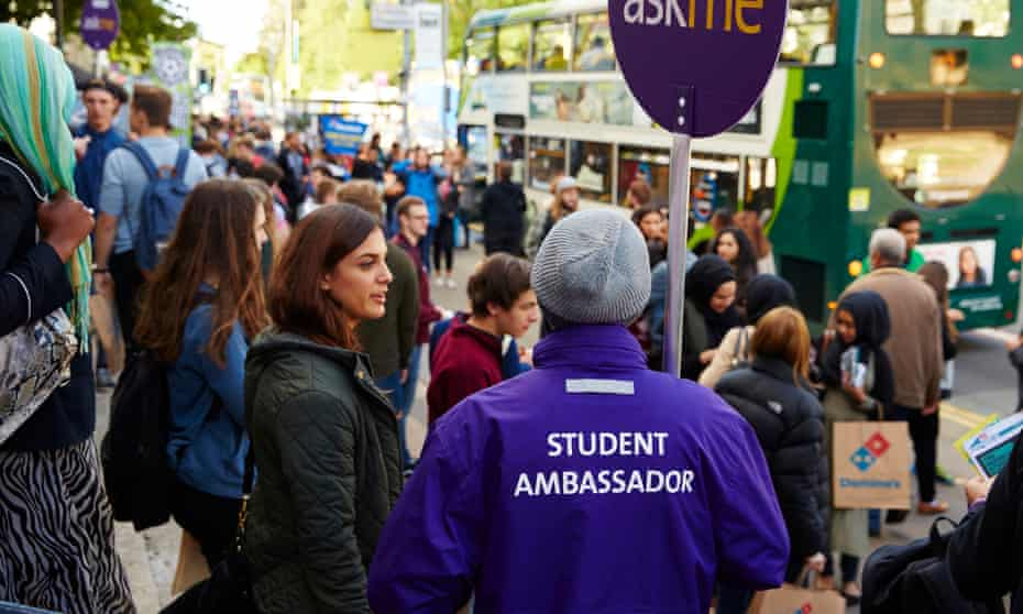 Students at freshers' week at the University of Manchester