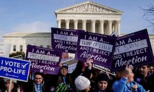 Anti-abortion activists rally in Washington DC.