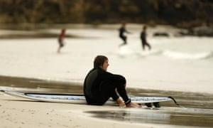 Wild ride: surfers love Tiree's crashing white-water waves.