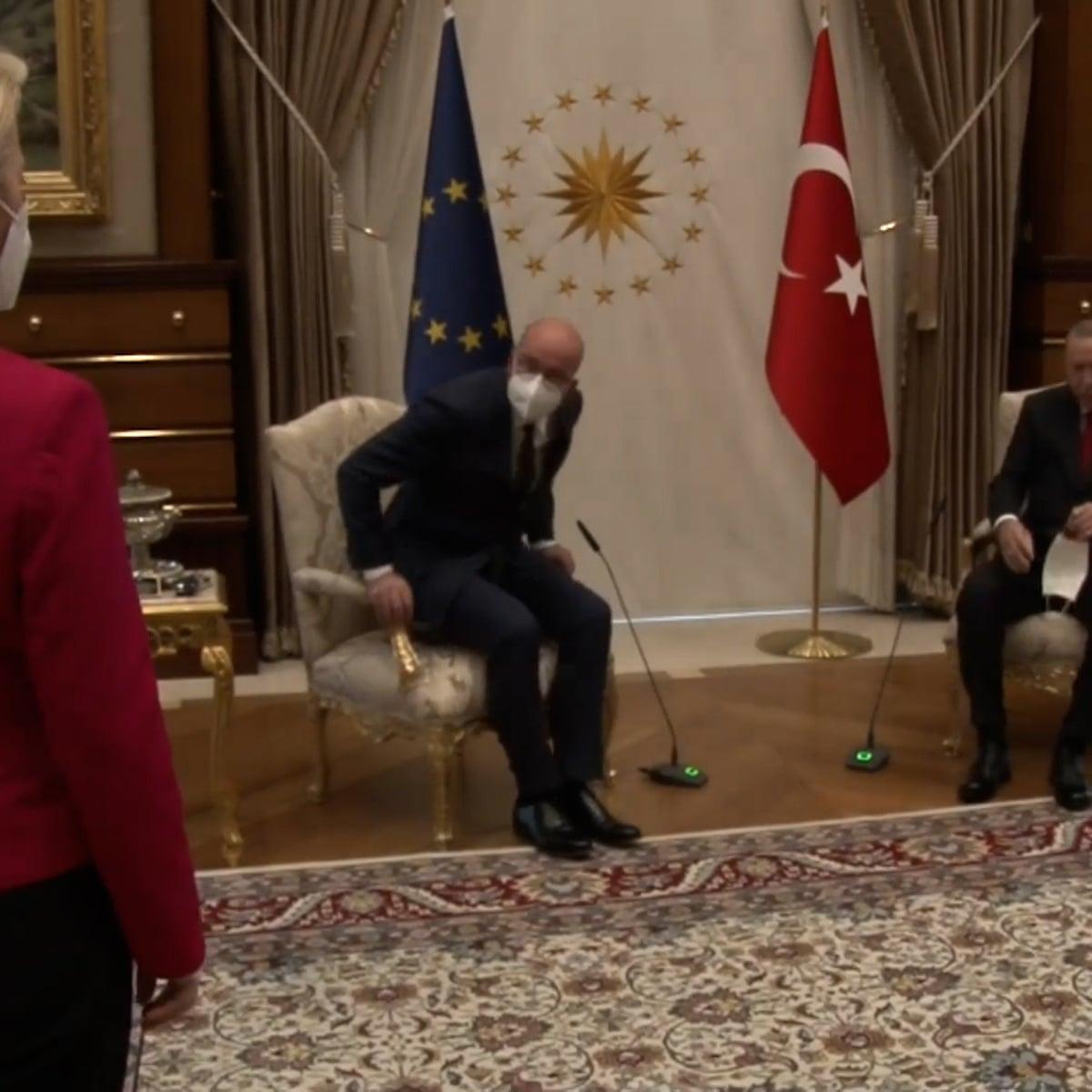 Ursula von der Leyen snubbed in chair gaffe at EU-Erdoğan talks   European  commission
