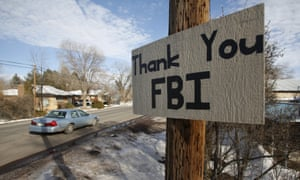A sign thanking the FBI hangs in Burns, Oregon, on the day the standoff ended. The estimated costs do not currently include the FBI's expenses.