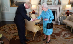 The Queen's audience with Boris Johnson in July, when she invited him to become PM and form a new government.