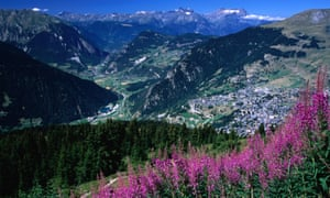 A view from the slopes above Verbier on Haute Route walk.