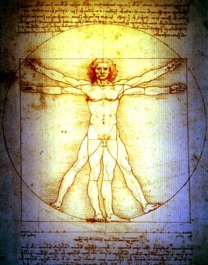 Leonardo's Vitruvian Man drawing.