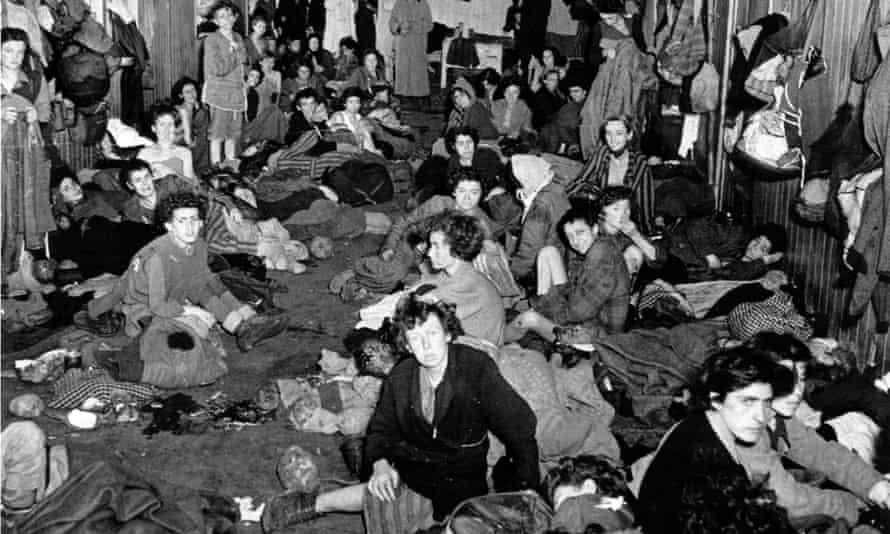 Female inmates at Bergen-Belsen concentration camp