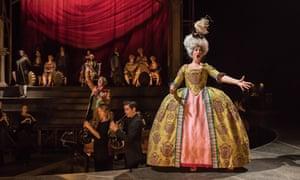 Full pomp … soprano Fleur de Bray sings an operatic excerpt.