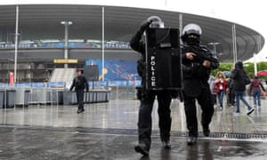 Security exercise at the Stade de France in Paris. The stadium is one of the main venues for Euro 2016 and will have beefed up security during the tournament.