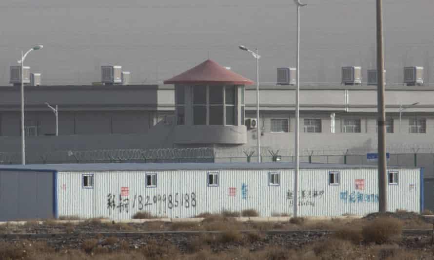 A Uighur detention centre in China's Xinjiang region
