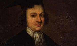 detail from portrait of Christopher Smart.