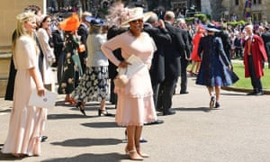 Oprah Winfrey attends the wedding of Prince Harry and Meghan Markle in Windsor on 19 May.