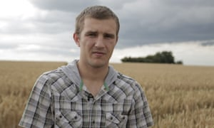 Laurynas Kelpsa was trafficked to the UK to work with 30 other Lithuanians to catch chickens.