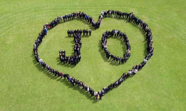 Pupils at a Cockshut Hill school in Birmingham mark the Great Get Together weekend on 16 June, the first anniversary of Jo Cox's murder.