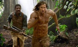 Jackson with Alexander Skarsgard in The Legend of Tarzan.