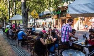Cafe in Santiago's Bellavista neighbourhood.