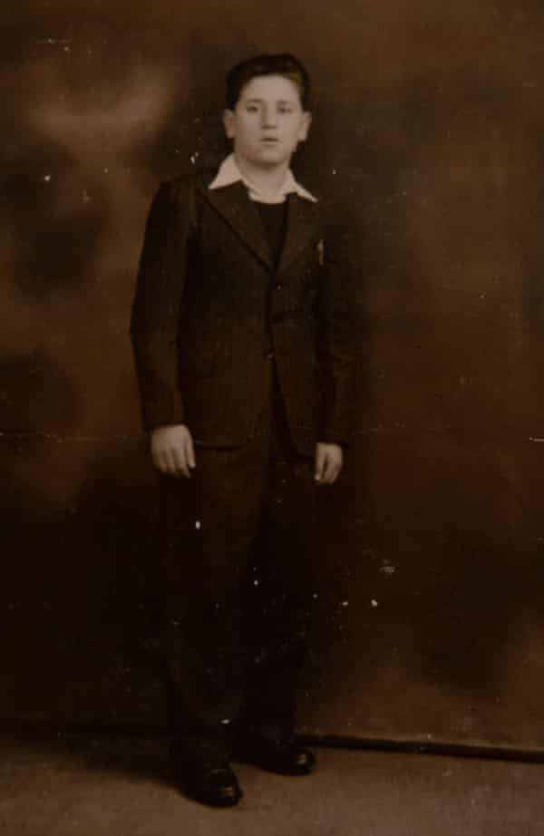 A portrait of Hersh taken in Liverpool after the war. He thinks he was about 18.