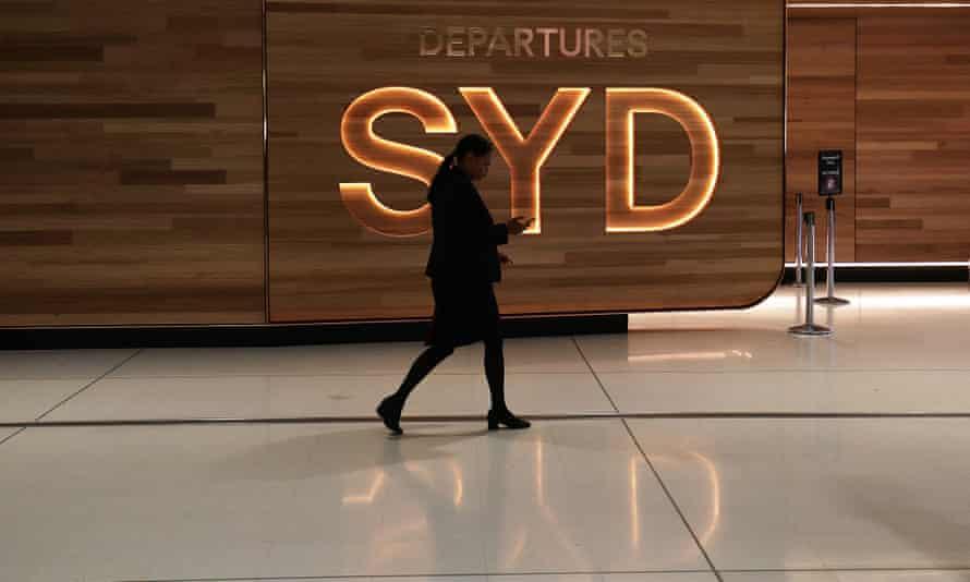 Sydney airport departures