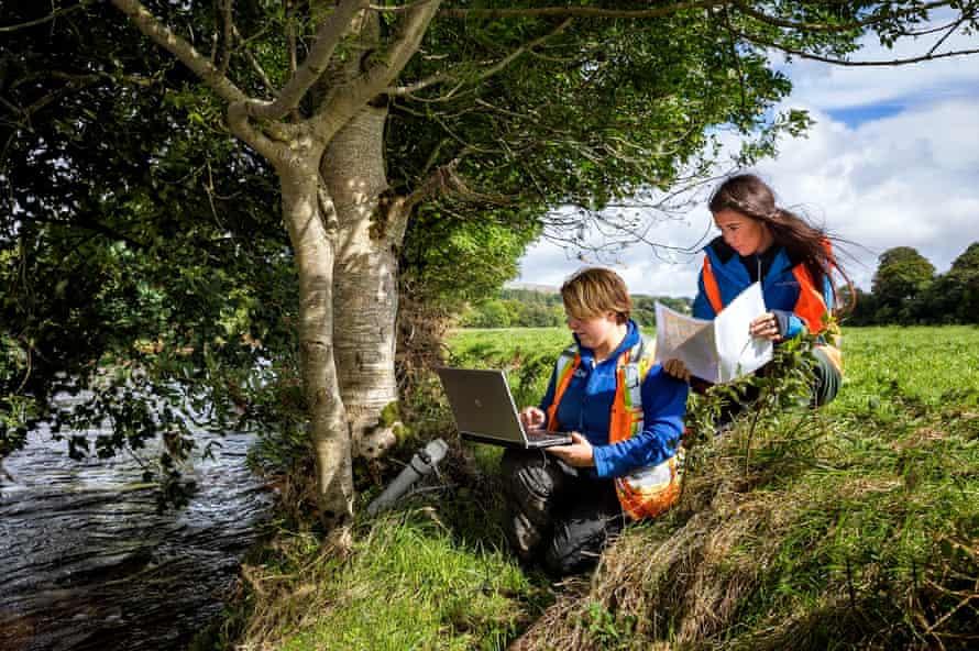 Reviewing environmental data at Dalradian's Curraghinalt project.