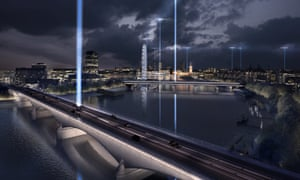 Beam me up... One of the proposals to light up the bridges along the Thames, by Diller Scofidio + Renfro.