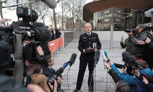 Mark Rowley of the Metropolitan police makes a statement outside of New Scotland Yard on 22 March.