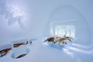 December 2015, ICEHOTEL: Love Capsule design by Luc Voisin (France) and Mathieu Brison (France)