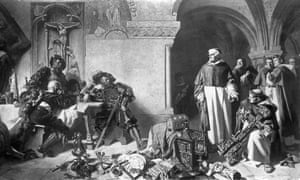 The dissolution of the monasteries during the Reformation.