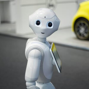 "Mobile World Congress 2017BARCELONA, SPAIN - MARCH 2: Pepper, the robot from SoftBank and Aldebaran, during the Mobile World Congress, on March 2, 2017 in Barcelona, Spain. (Photo by Joan Cros Garcia/Corbis via Getty Images)""n"