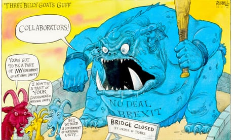 Three Billy Goats Guff and the no-deal Brexit troll – cartoon