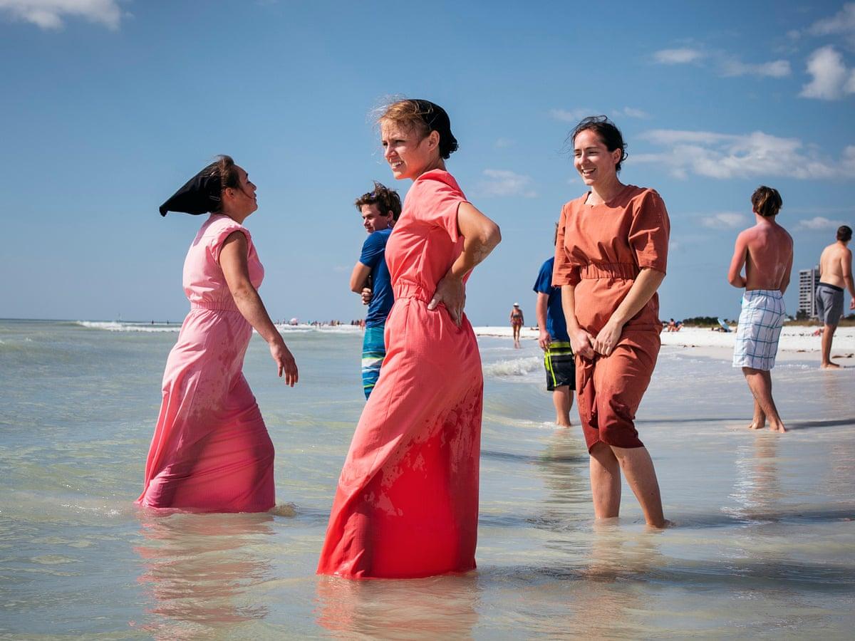 Teen topless beach 'Free the