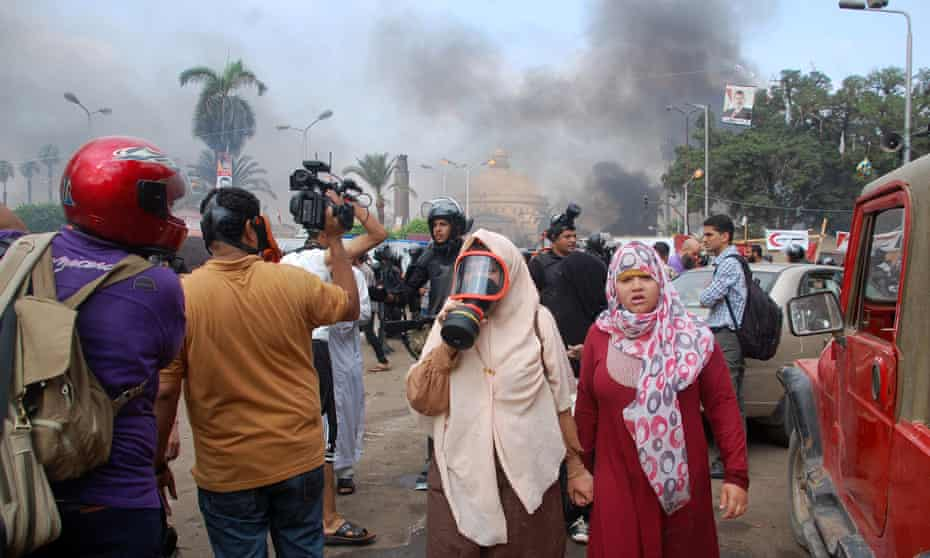 Egyptian security forces clear protest camps loyal to ousted President Mohamed Morsi, Cairo, Egypt on 14 August 2013
