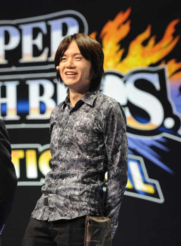 'This is a game that lends itself to creating community' … Sakurai at a Super Smash Bros invitational tournament at the E3 conference in LA.