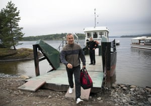 Nato secretary general Jens Stoltenberg spent a night on the island with the group