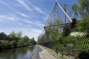 London zoo's Snowdon Aviary, which has been added to the list of at-risk sites.