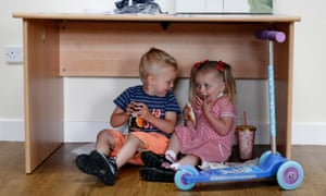 Two children eating at the Annexe Community Centre in Hartlepool