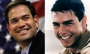 Marco Rubio and Tom Cruise in Top Gun