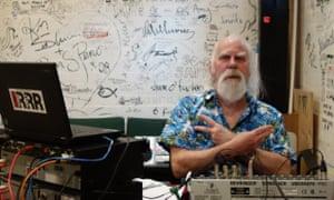 Stephen Walker, aka The Ghost, at Melbourne community radio station Triple R.