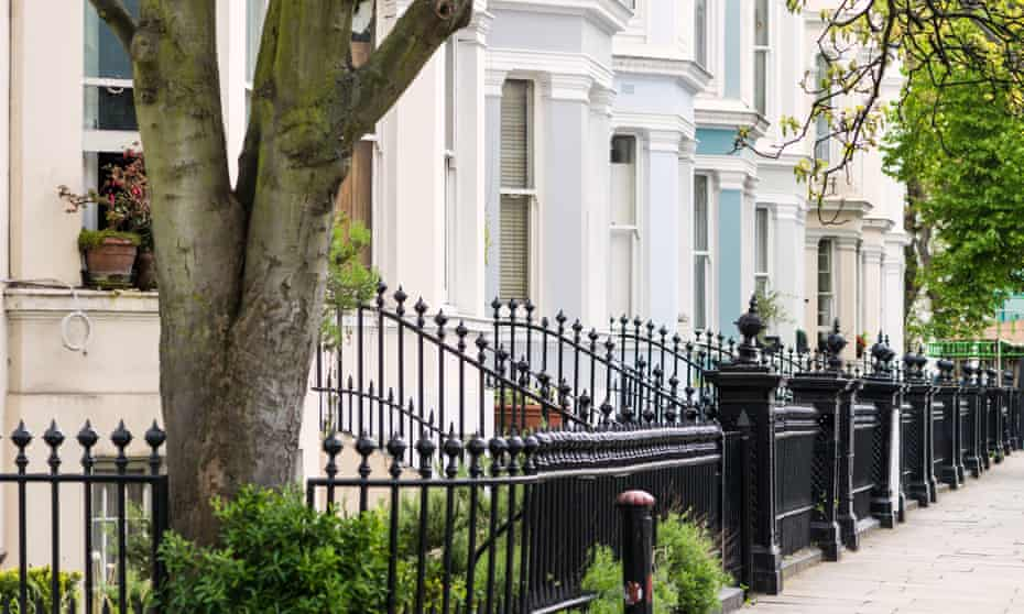 Homes in the Notting Hill District of London.