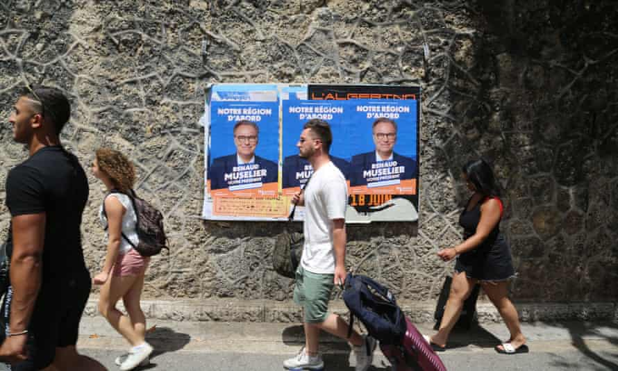 Election posters in Marseille, June 2021.