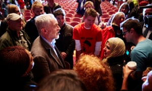 Jeremy Corbyn addressing a rally at Middlesbrough Town Hall during his leadership campaign in 2015.