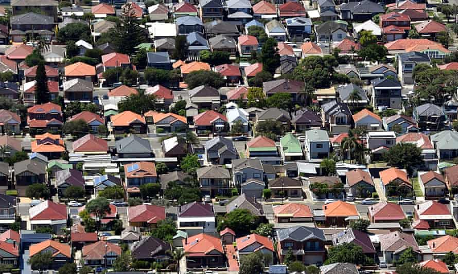 An aerial image of houses in Matraville, Sydney