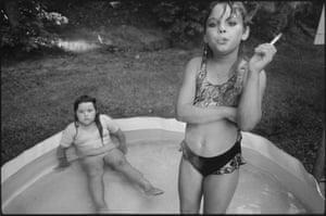 Amanda and her cousin Amy, Valdese, North Carolina, 1990