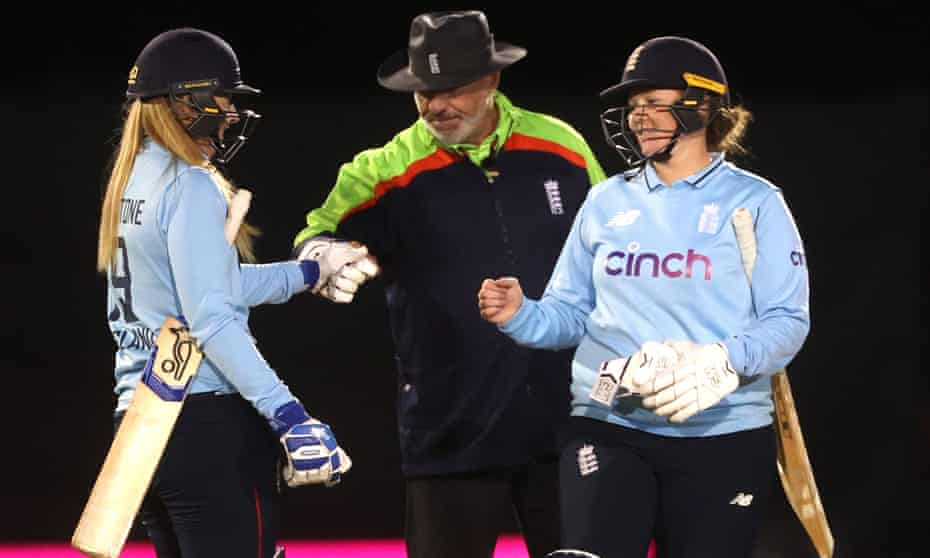 Sophie Ecclestone (left) and Anya Shrubsole helped England to victory in the final.