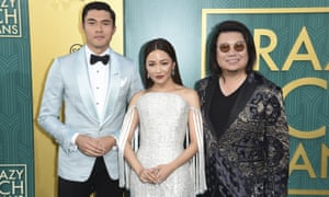 Henry Golding, Constance Wu and Kevin KwanHenry Golding at the premiere of Crazy Rich Asians.