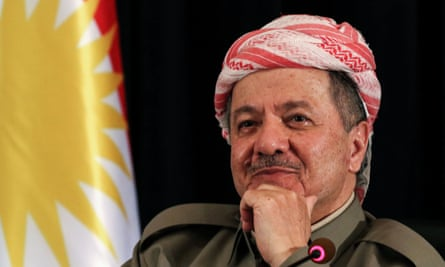 In a letter to the Kurdish parliament, Masoud Barzani, says he is stepping down as of 1 November.