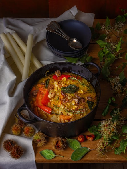 Soupe à la citrouille, aux haricots et aux marrons de Jeremy Lee